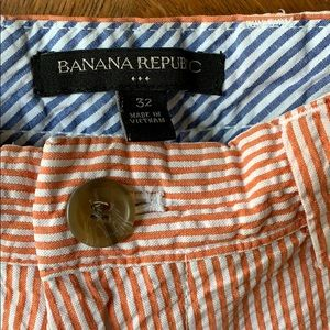 Banana Republic seersucker stripe shorts